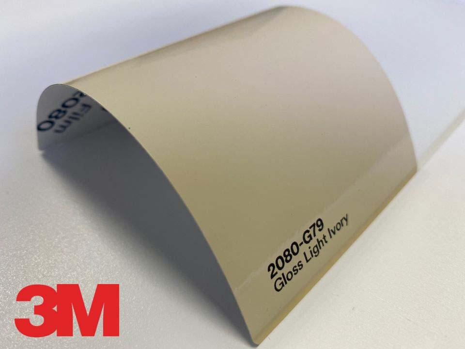 3M Wrap Film Series 2080-G79, Gloss Light Ivory
