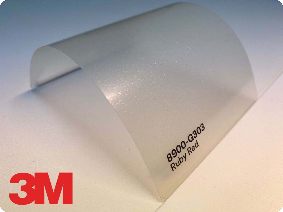 3M Wrap Overlaminate 8900-G303, Gloss Ruby Red